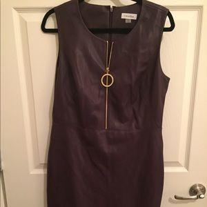 Calvin Klein faux leather dress